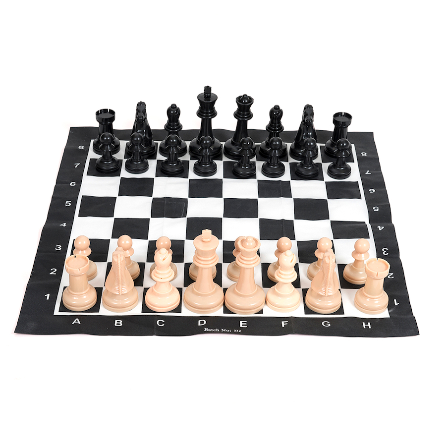 Buy Large Plastic Garden Chess Game With Board Tts