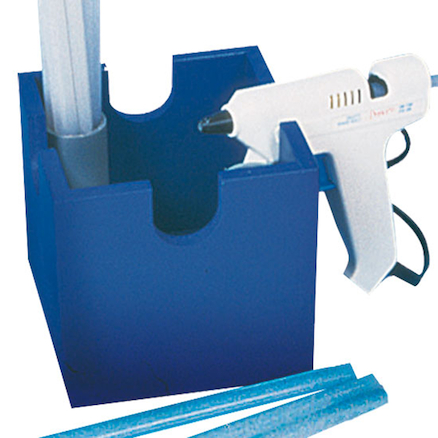 Glue Gun Stand Blue Hold 4 guns  large