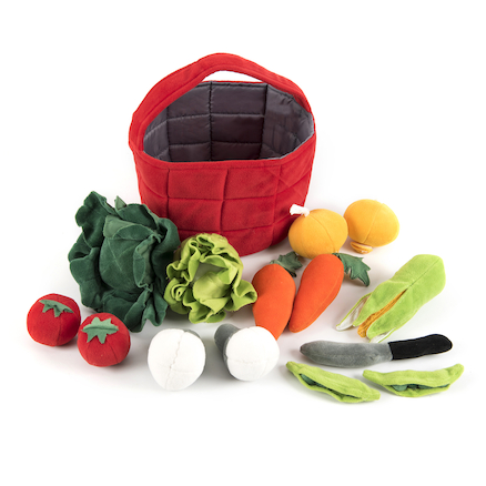Soft Role Play Basket of Vegetables  large