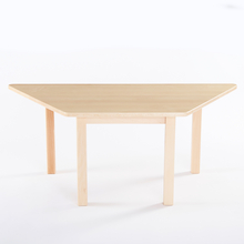 Trapezoidal Solid Beech Table L120cm  medium