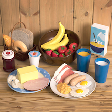 Role Play Breakfast Food Set  medium