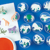 Assorted Jungle Stampers D7.5cm 14pk  small