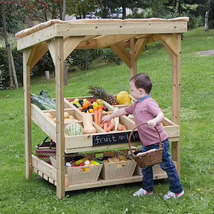 Outdoor Wooden Role Play Market Stall Unit  large