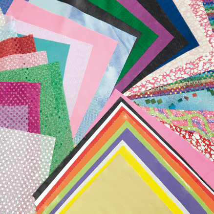 Assorted Collage Fabric Pieces 36pk  large