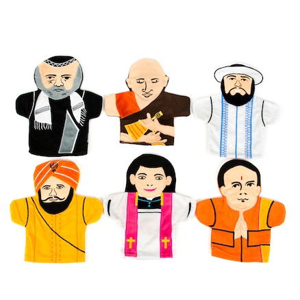 World Religious Leader Hand Puppets  large