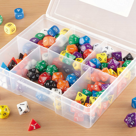 Polyhedral Dice Classroom Set 125pcs  large
