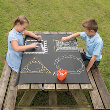 Chalkboard Cloth Table Covers 2pk  medium