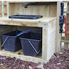 Outdoor Wooden Sink with Pump  small