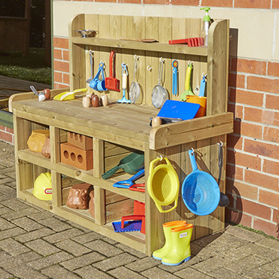 Outlet Timer Outdoor Small Buyer S Guide: Buy Outdoor Wooden Builder's Role Play Bench