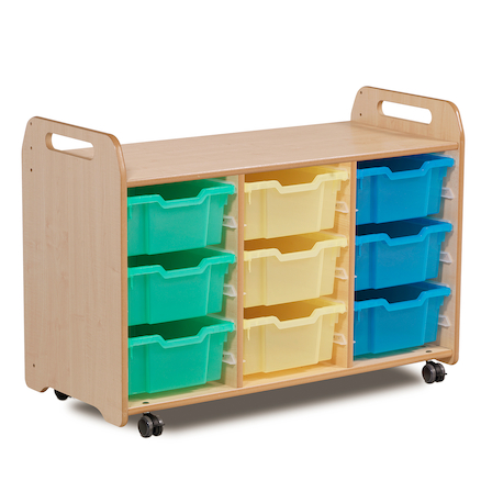 PlayScapes Three Column Tray Storage  large