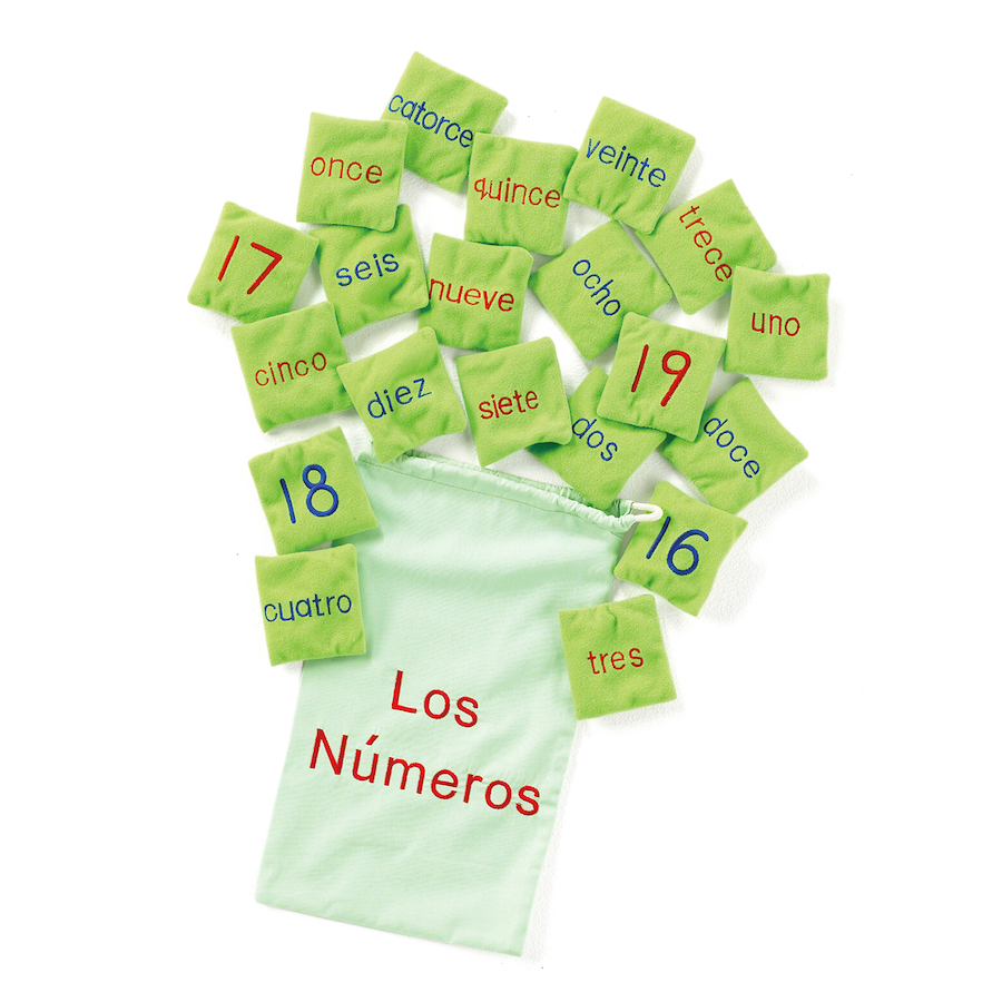 Spanish Number Bean Bags 20pk