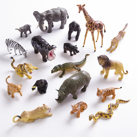 Small World Classic Jungle Animal Collection 18pcs  large