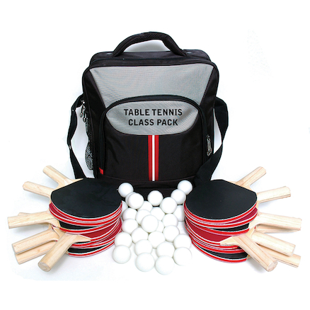 Table Tennis Class Pack Bats Balls and Carry Bag  large