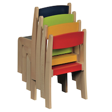Solid Beech Stackable Chairs 4pk  medium