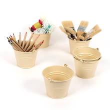 Cream Metal Buckets 6pk  medium
