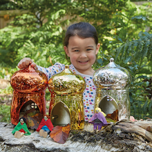 Metallic Small World Fairy Houses 3pk  medium