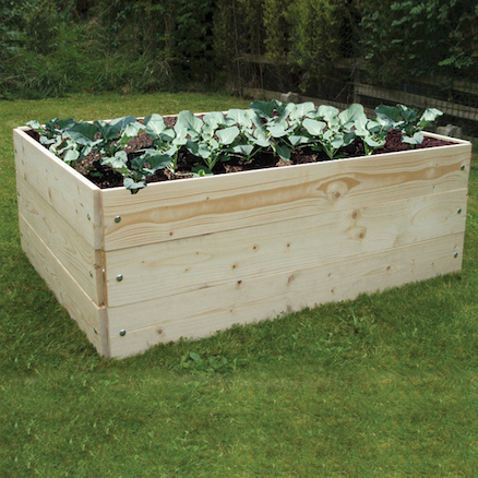 Raised Wooden Grow Bed  large