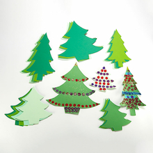 Jumbo Paper Display Trees Assorted 40pk  medium