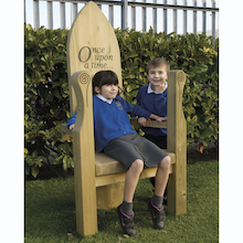 Outdoor Wooden Storytellers' Chair  medium