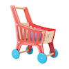 Role Play Wooden Shopping Cart  small