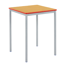Fully Welded Tables Coloured Edge Square   medium