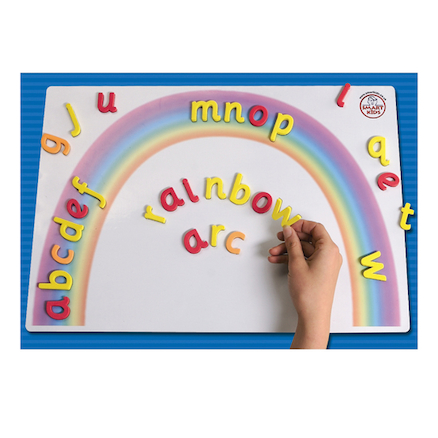 Magnetic Double Sided Letter Rainbow Arc A3  large