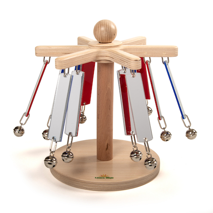 Multisensory Wooden Mirror Chime Carousel  large