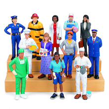 Small World Plastic Community Block People  medium