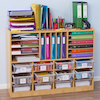 Open Storage Unit with Mixed Size Compartments  small