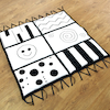 Baby Black and White Soft Mat 100 x 100cm  small