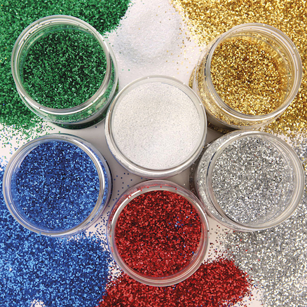 Assorted Glitter Class Pack 250g 6pk  large
