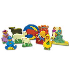 Wooden Nursery Rhyme Character Set 11pcs  medium