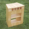 Curved Outdoor Wooden Role Play Kitchen Multibuy  small