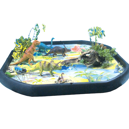 Active World Tuff Tray Dinosaur Mat  large