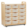 PlayScapes Unit 1080mm High with 15 Deep Trays Clear  small