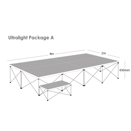Ultralight Folding Staging Package A  large