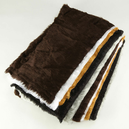 Traditional Fur Fabric 55 x 35cm 5pk  large