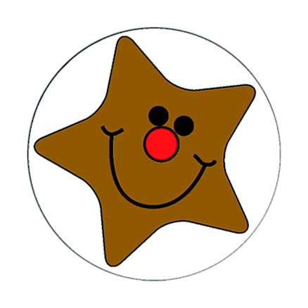 Smiley Star Stickers  large
