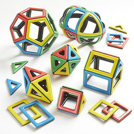 Magnetic Polydron 2D 3D Shapes Maths Set 118pcs