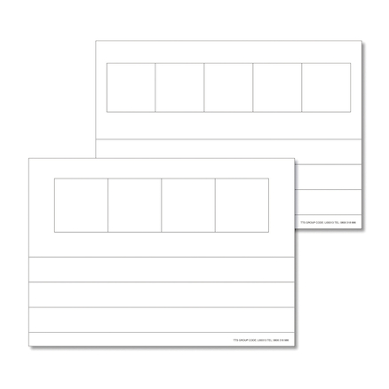Phoneme Frame Whiteboards 6 pk  large