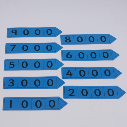 Blue Thousand Place Value Arrows  large