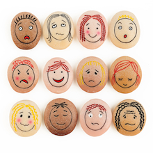 Feelings and Emotions Facial Expressions Stones  medium