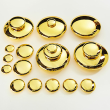 Mirrored Stacking Pebbles Gold 20pk  medium