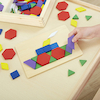 Wooden 2D Shapes and 5 Pattern Boards  small