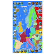 European Landmark Map Signboards  medium