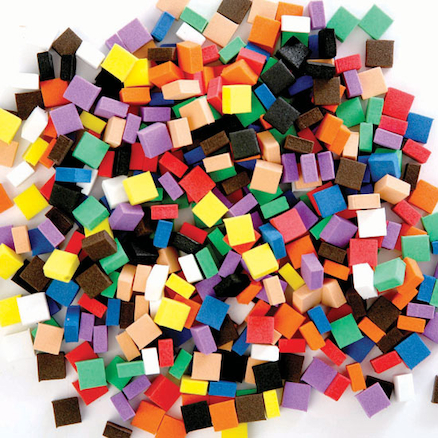 Craft Foam Assorted Mosaic Pieces 500pk  large