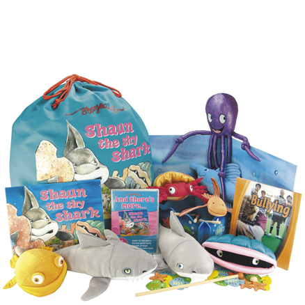 Shaun the Shy Shark Story Sack Books and Toys Pack  large