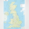 UK Physical Map A1  small