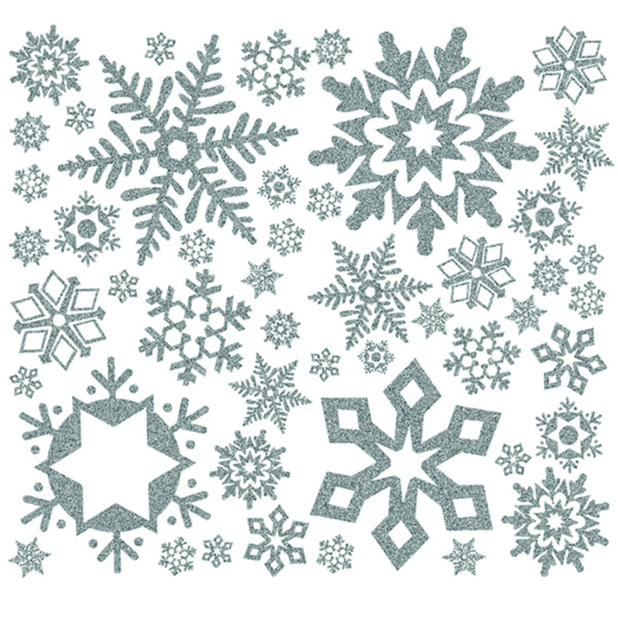 buy glitter snowflakes winter wall sticker decoration tts