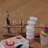 Wooden Paint Brush Holder  small